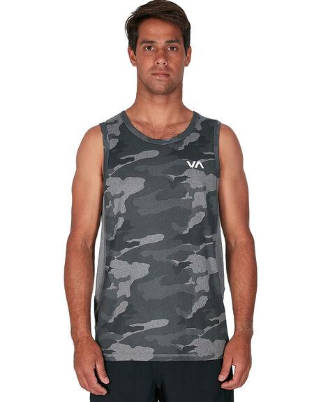 CAMO MENS CLOTHING RVCA SINGLETS - RV-R307001-CMO