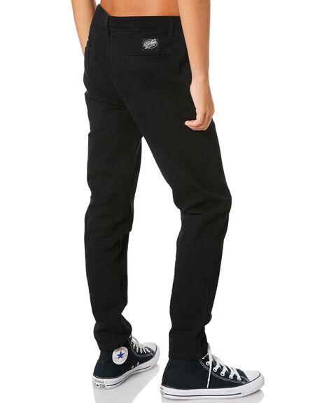 BLACK KIDS BOYS SANTA CRUZ PANTS - SC-YPA0400BLK