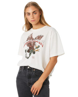 DIRTY WHITE WOMENS CLOTHING THRILLS TEES - WSMU9-131ADWHT
