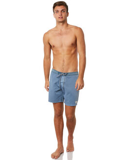 WASHED INDIGO MENS CLOTHING RHYTHM BOARDSHORTS - JUL18M-TR04IND