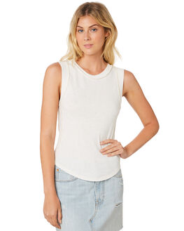 IVORY WOMENS CLOTHING FREE PEOPLE SINGLETS - OB9066931103
