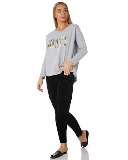 GREY MARLE WOMENS CLOTHING RUSTY TEES - TTL1027GMA