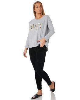 GREY MARLE WOMENS CLOTHING RUSTY TEES - TTL1027GMA