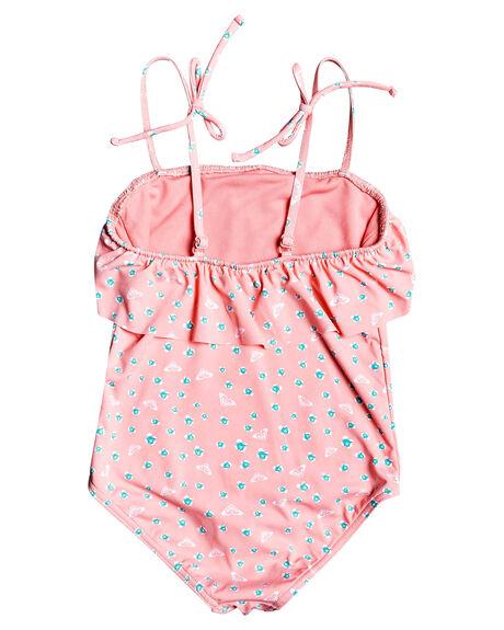 GERANIUM PINK KIDS GIRLS ROXY SWIMWEAR - ERLX103040-MFZ6