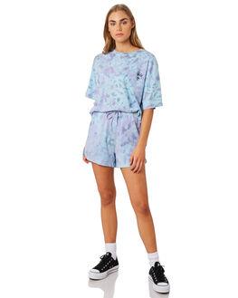 LAVENDER TIE DYE WOMENS CLOTHING STUSSY SHORTS - ST192622LAV