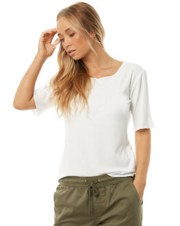 WHITE OUTLET WOMENS SWELL TEES - S8182002WHITE