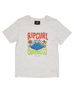 LIGHT GREY MARLE KIDS BOYS RIP CURL TOPS - OTEWB23597