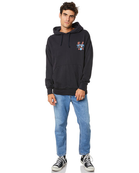 HERITAGE BLACK MENS CLOTHING THRILLS JUMPERS - TW20-217BHHRBLK