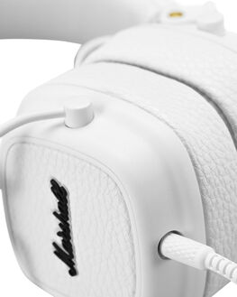 WHITE MENS ACCESSORIES MARSHALL AUDIO + CAMERAS - 154375WHI