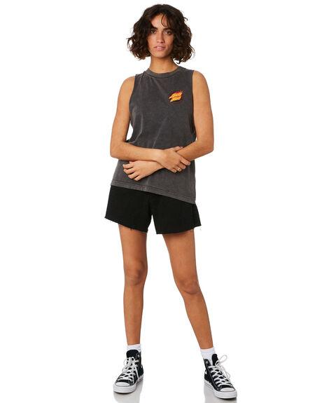 ACID BLACK WOMENS CLOTHING SANTA CRUZ SINGLETS - SC-WTD9956ABLK