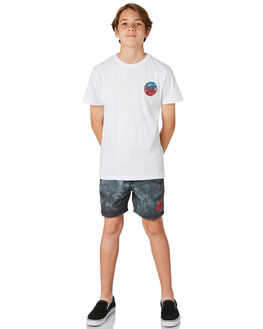 WHITE KIDS BOYS SANTA CRUZ TEES - SC-YTD8123WHT
