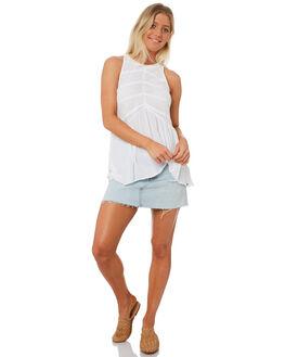 WHITE WOMENS CLOTHING VOLCOM FASHION TOPS - B0531806WHT