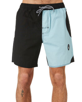 WASHED BLACK BLUE MENS CLOTHING TOWN AND COUNTRY BOARDSHORTS - TBO413BWSBKB
