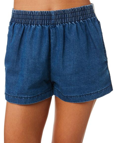 BLUE WOMENS CLOTHING STUSSY SHORTS - ST183605BLU