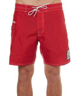 RED MENS CLOTHING KATIN BOARDSHORTS - TRWATS17RED