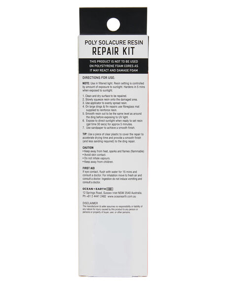 CLEAR BOARDSPORTS SURF OCEAN AND EARTH ACCESSORIES - SARE06CLE