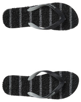 BLACK GREY MENS FOOTWEAR KUSTOM THONGS - 4983203ABLKGY
