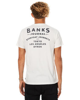 OFF WHITE MENS CLOTHING BANKS TEES - WTS0163OWHT