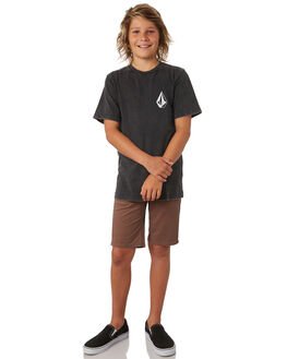 BLACK KIDS BOYS VOLCOM TEES - C4341873BLK