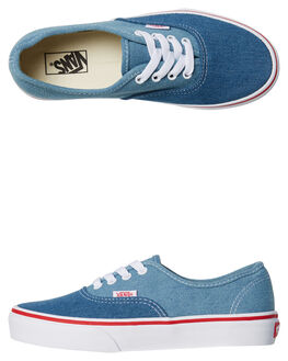 BLUE WHITE KIDS BOYS VANS SKATE SHOES - VNA38H3Q69BLU