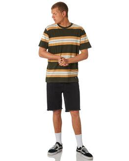 DARK MILITARY MENS CLOTHING RVCA TEES - R381041DMIL