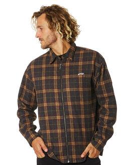 DARK GREY MARLE MENS CLOTHING RUSTY SHIRTS - WSM0939DGM
