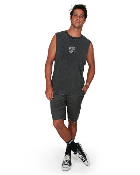 BLACK ACID MENS CLOTHING RVCA SINGLETS - RV-R106006-252