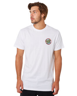 WHITE MENS CLOTHING SANTA CRUZ TEES - SC-MTD9344WHT