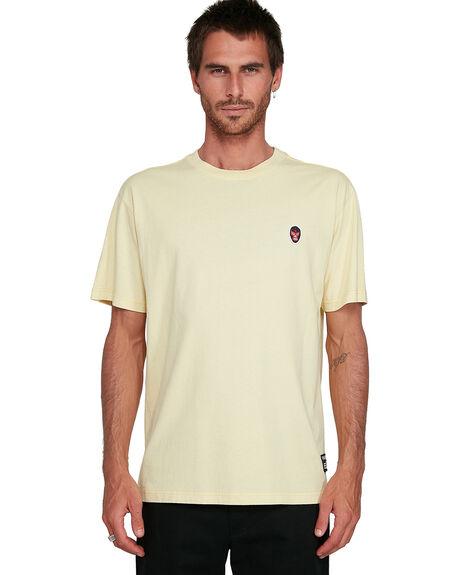SUN YELLOW MENS CLOTHING RVCA TEES - RV-R108044-S43