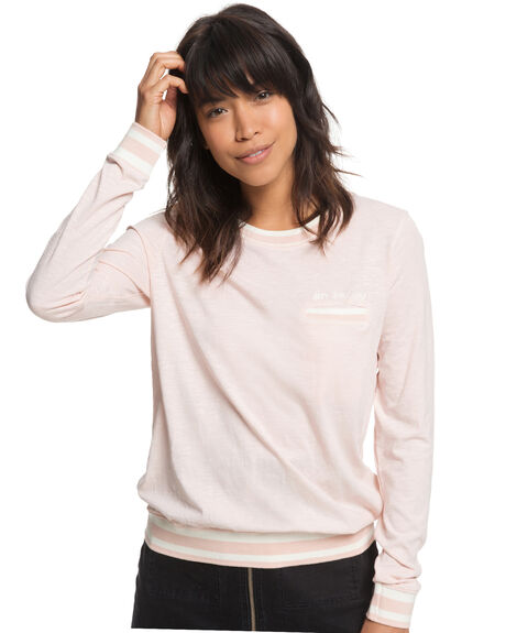 PEACH WHIP WOMENS CLOTHING ROXY TEES - ERJZT04388MEK0