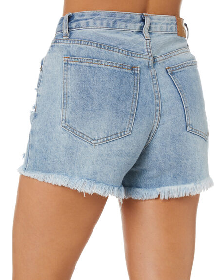 BLUE WOMENS CLOTHING ALL ABOUT EVE SHORTS - 6463223SKBLU
