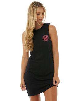 BLACK WOMENS CLOTHING SANTA CRUZ DRESSES - SC-WDA8517BLK