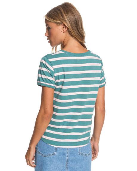 OIL BLUE WOMENS CLOTHING ROXY TEES - ERJZT05036-BKY3
