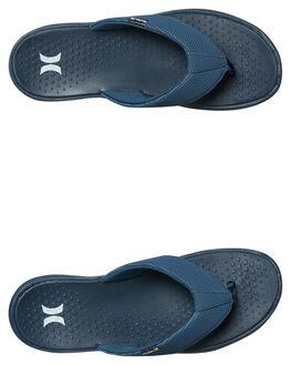 BLUE WHITE MENS FOOTWEAR HURLEY THONGS - 924747464
