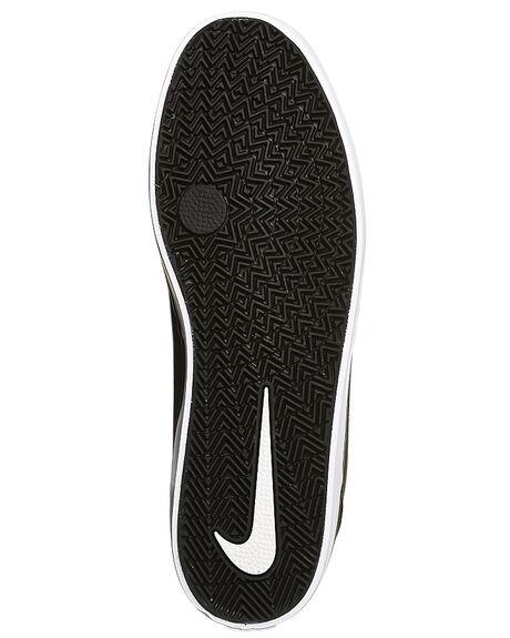 BLACK WHITE MENS FOOTWEAR NIKE SKATE SHOES - SS843896-001M
