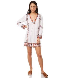 WHITE WOMENS CLOTHING TIGERLILY DRESSES - T381432WHT