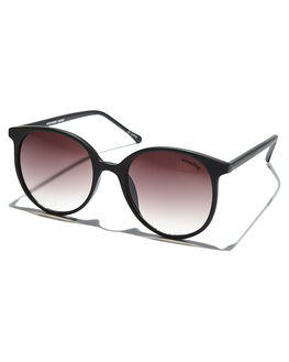 BLACK RUBBER WOMENS ACCESSORIES MINKPINK SUNGLASSES - MNP1608033BLKRB