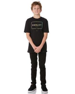 BLACK KIDS BOYS HURLEY TEES - ABAA5312010