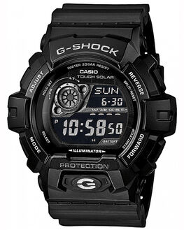 BLACK SILVER MENS ACCESSORIES G SHOCK WATCHES - GR8900A1BLKS