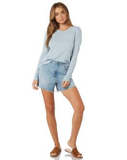 BLUE WOMENS CLOTHING RUSTY TEES - TTL0934BFG