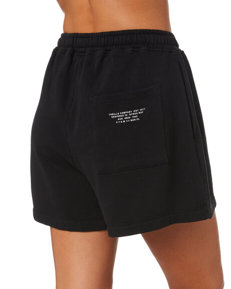 BLACK WOMENS CLOTHING THRILLS SHORTS - WTA21-305BBLK