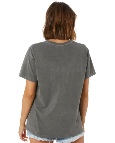 WASHED BLACK WOMENS CLOTHING ALL ABOUT EVE TEES - 6483261WBLK