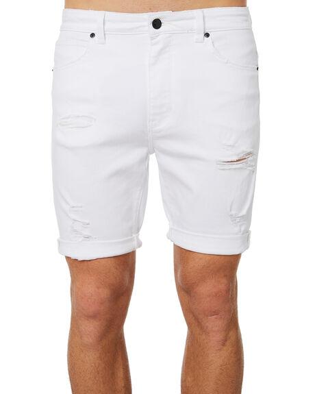 ROGUE WHITE MENS CLOTHING ABRAND SHORTS - 809783117