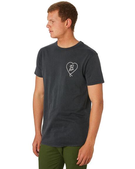 DIRTY BLACK MENS CLOTHING BANKS TEES - WTS0408DBL