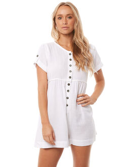 WHITE WOMENS CLOTHING SAINT HELENA PLAYSUITS + OVERALLS - SH17HS413WHT