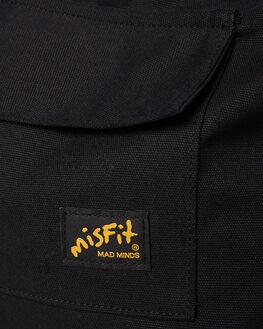 BLACK MENS ACCESSORIES MISFIT BAGS + BACKPACKS - MT795007BLK