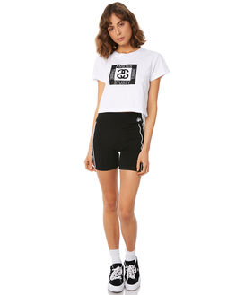 WHITE WOMENS CLOTHING STUSSY TEES - ST182003WHT