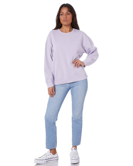 PURPLE WOMENS CLOTHING ALL ABOUT EVE JUMPERS - 6456129PURP