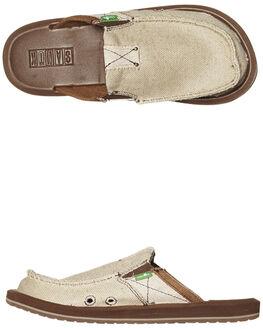 TAN MENS FOOTWEAR SANUK SLIP ONS - SMF1109TAN