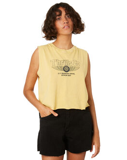 HERITAGE YELLOW WOMENS CLOTHING THRILLS SINGLETS - WTS8-121KYEL